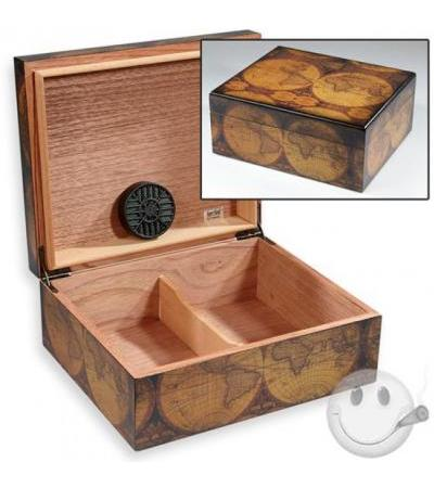 Old World Antique Finish Small Humidor Old World Antique Humidor - 40 Capacity 40 Cigar Capacity